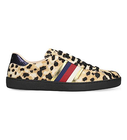 pony-hair sneakers. #gucci #shoes