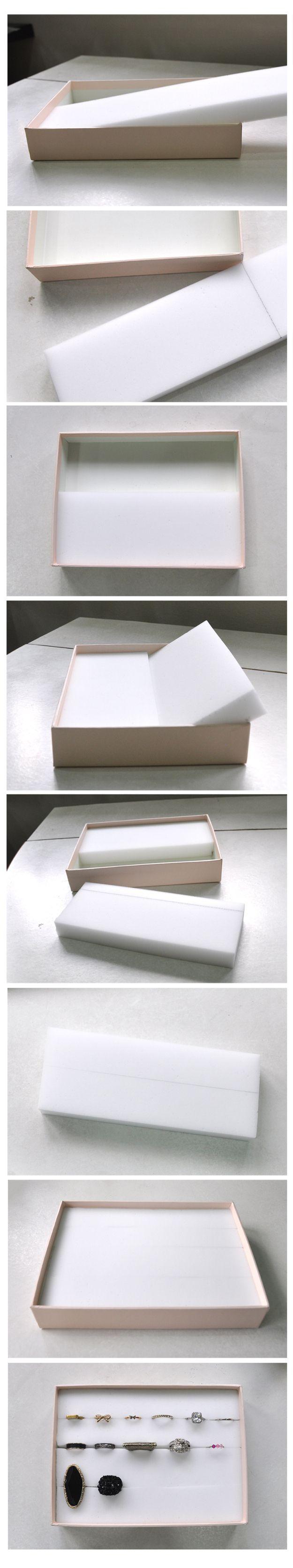 Ring Box Diy Deco Rangement Presentation De Bijoux Et Rangement Bijoux