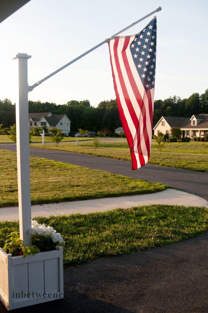 Flag Pole Planter Inbetweenchaos Com Flag Pole Landscaping Flag Pole Garden Flag Pole
