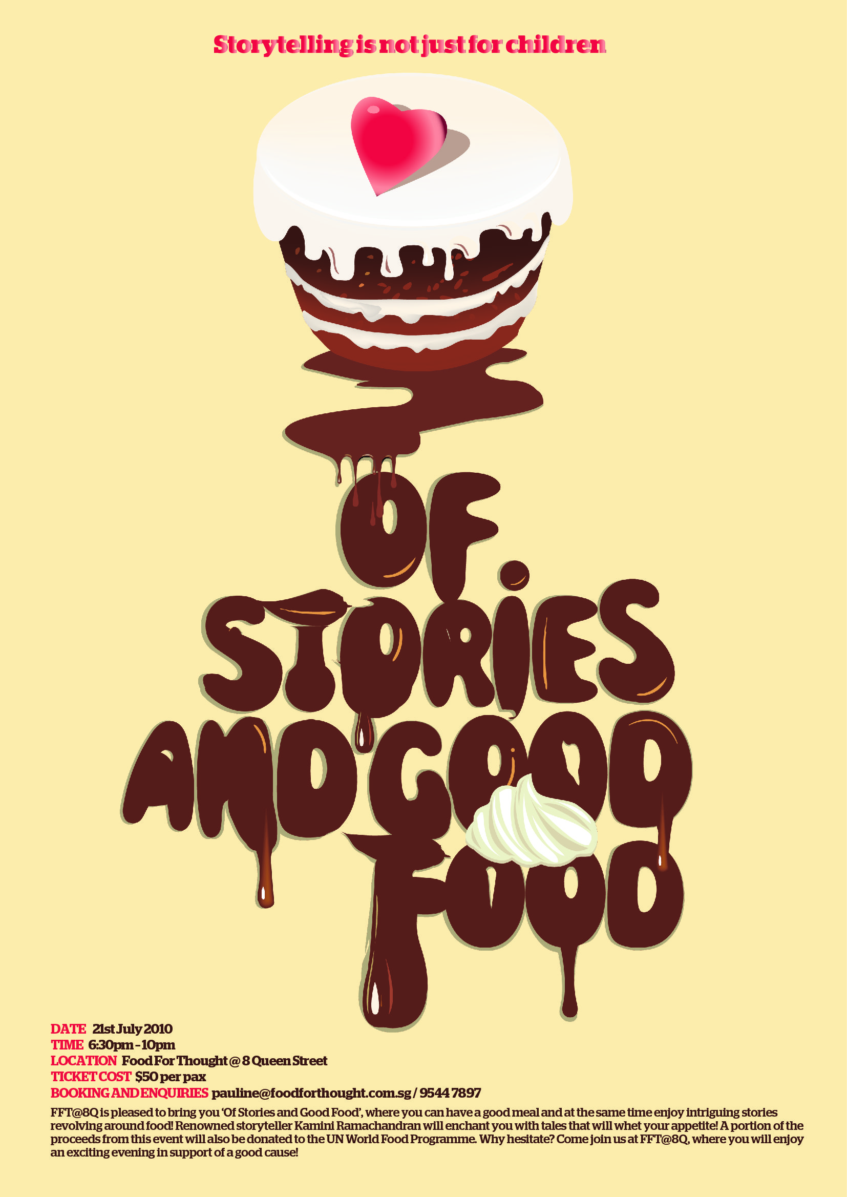 A good poster design - Poster Design For Fft 8q Of Stories And Good Food Event 2010