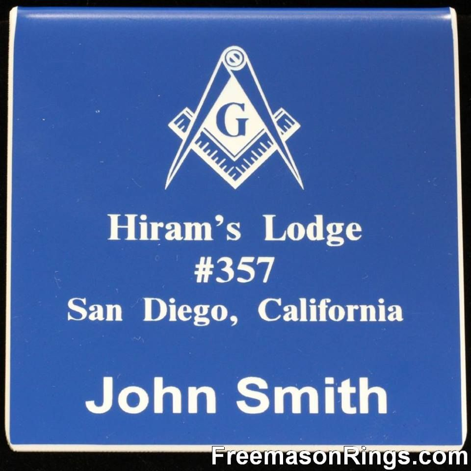 Custom Lodge Name Badges | Masonic Regalia | Name badges, Badge