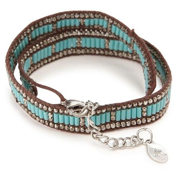 Lucky Brand Turquoise Double Wrap Bracelet ($29) ❤ liked on Polyvore