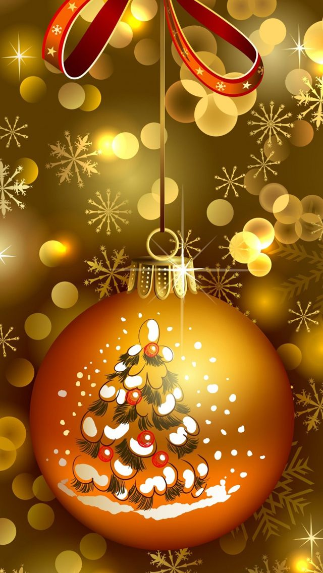 CHRISTMAS TREE ORNAMENT, IPHONE WALLPAPER BACKGROUND
