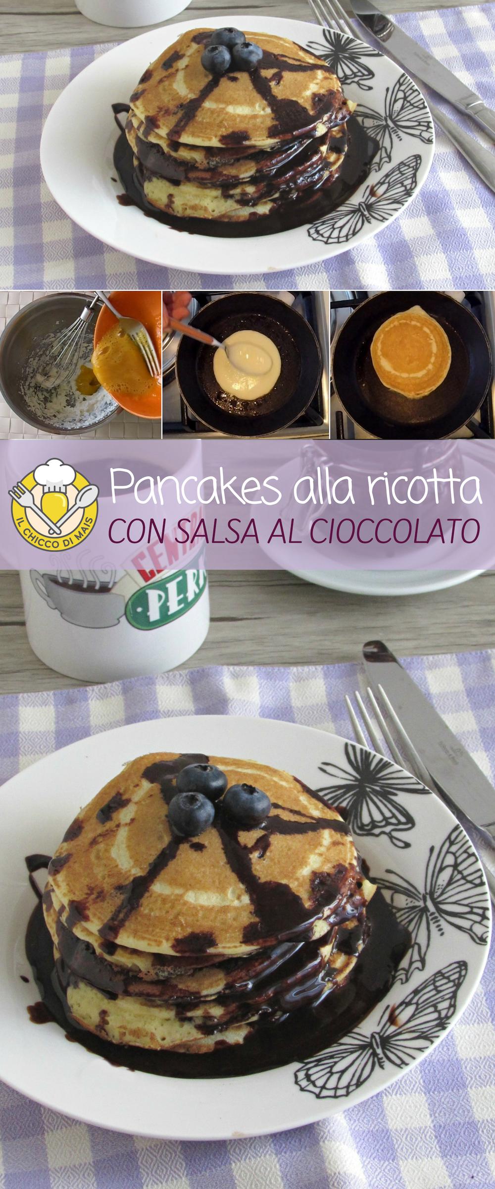 Pancakes Alla Ricotta Con Topping Al Cioccolato I Dolci Americani