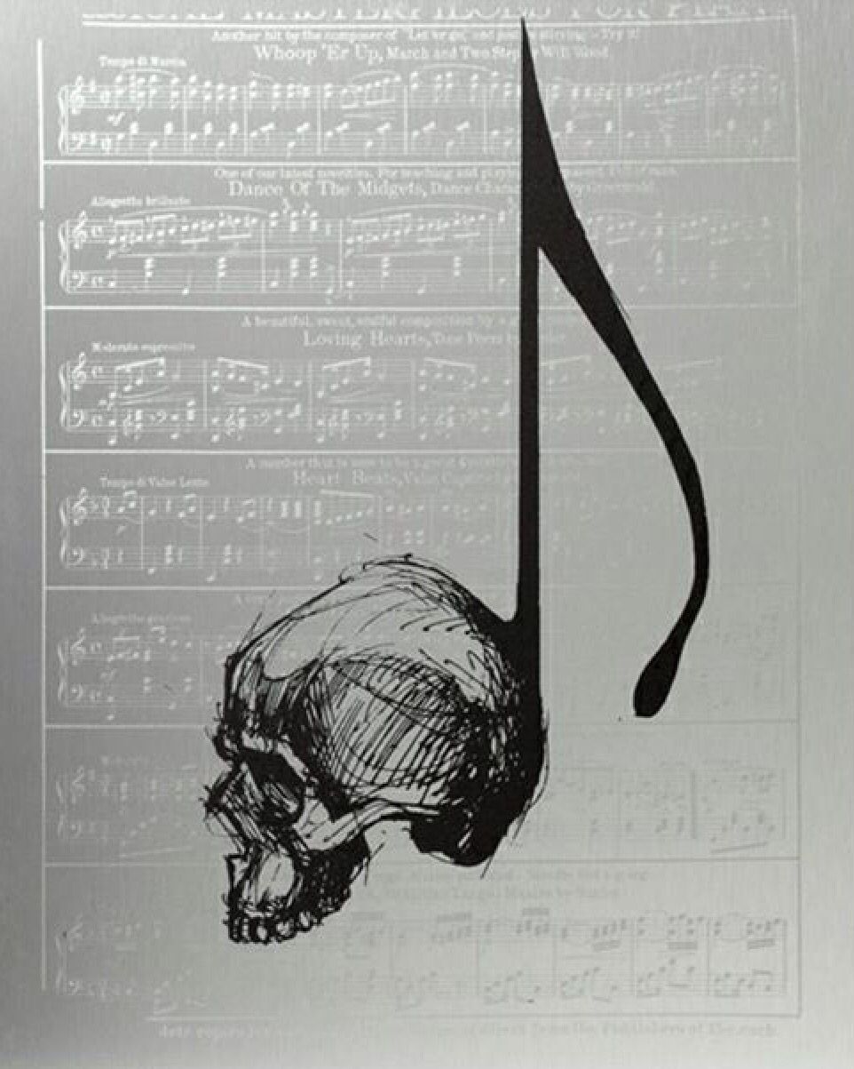 Photo of Skull music note                                                                …