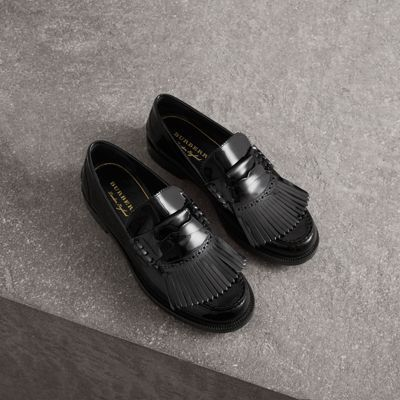 1b8fe9c8eec Kiltie Fringe Patent Leather Loafers in Black - Men