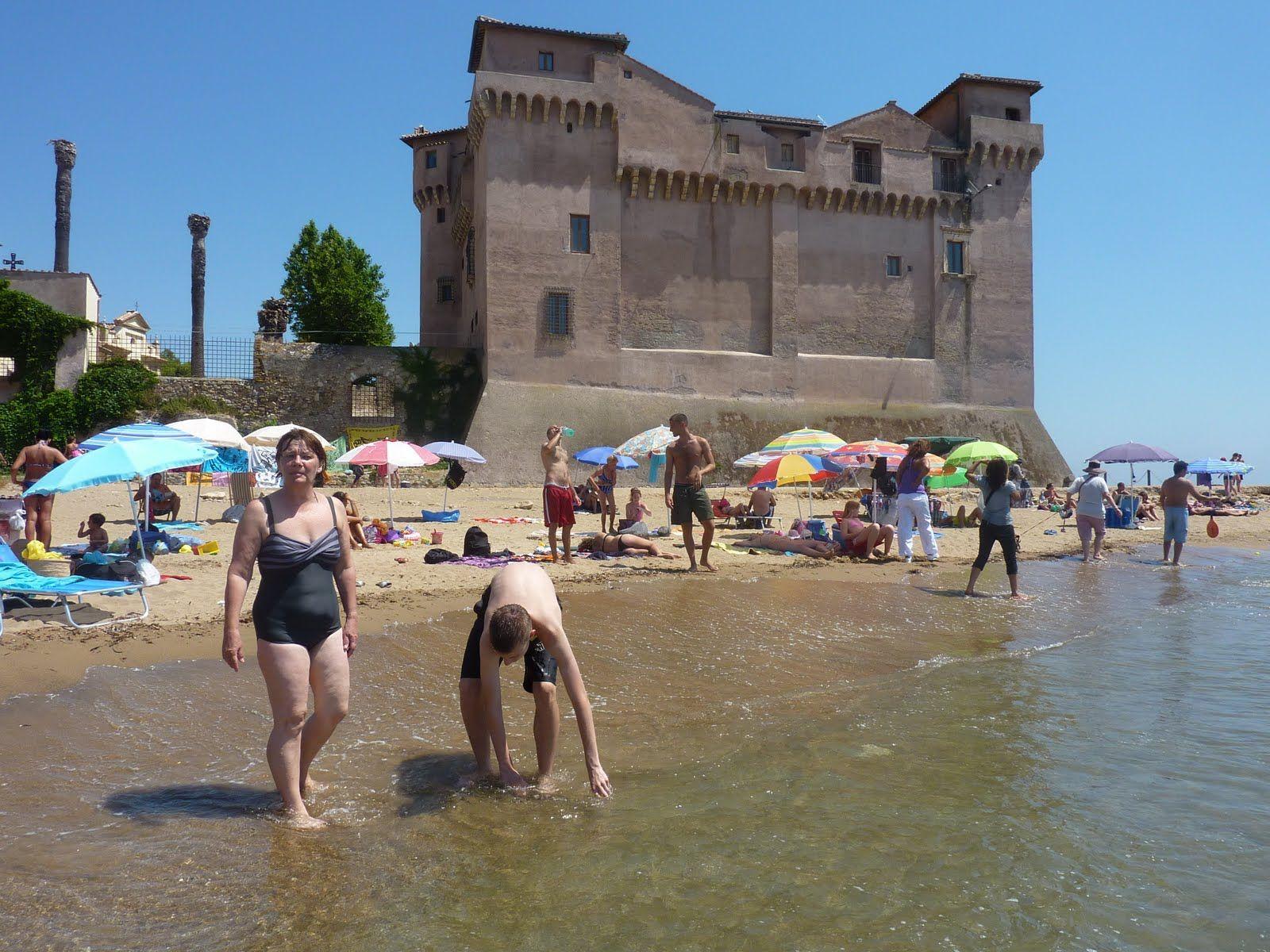 Santa Severa Beach By Santa Marinella Lazio Italy Europa