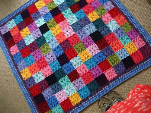 I love her colorful style - this looks straightforward and ... : patchwork quilt knitting pattern - Adamdwight.com