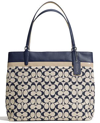 COACH TOTE IN PRINTED SIGNATURE FABRIC - COACH - Handbags   Accessories -  Macy s feaad7a1c5c82