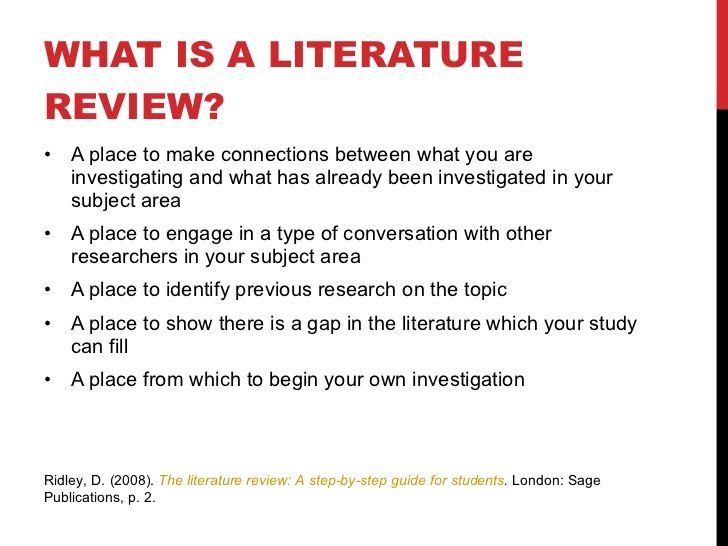 Doctoral level literature review