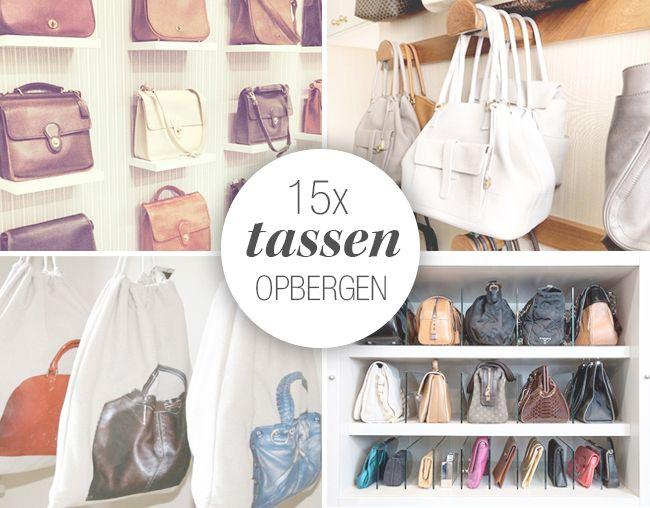 Tassen opbergen inspiratie handbags pinterest