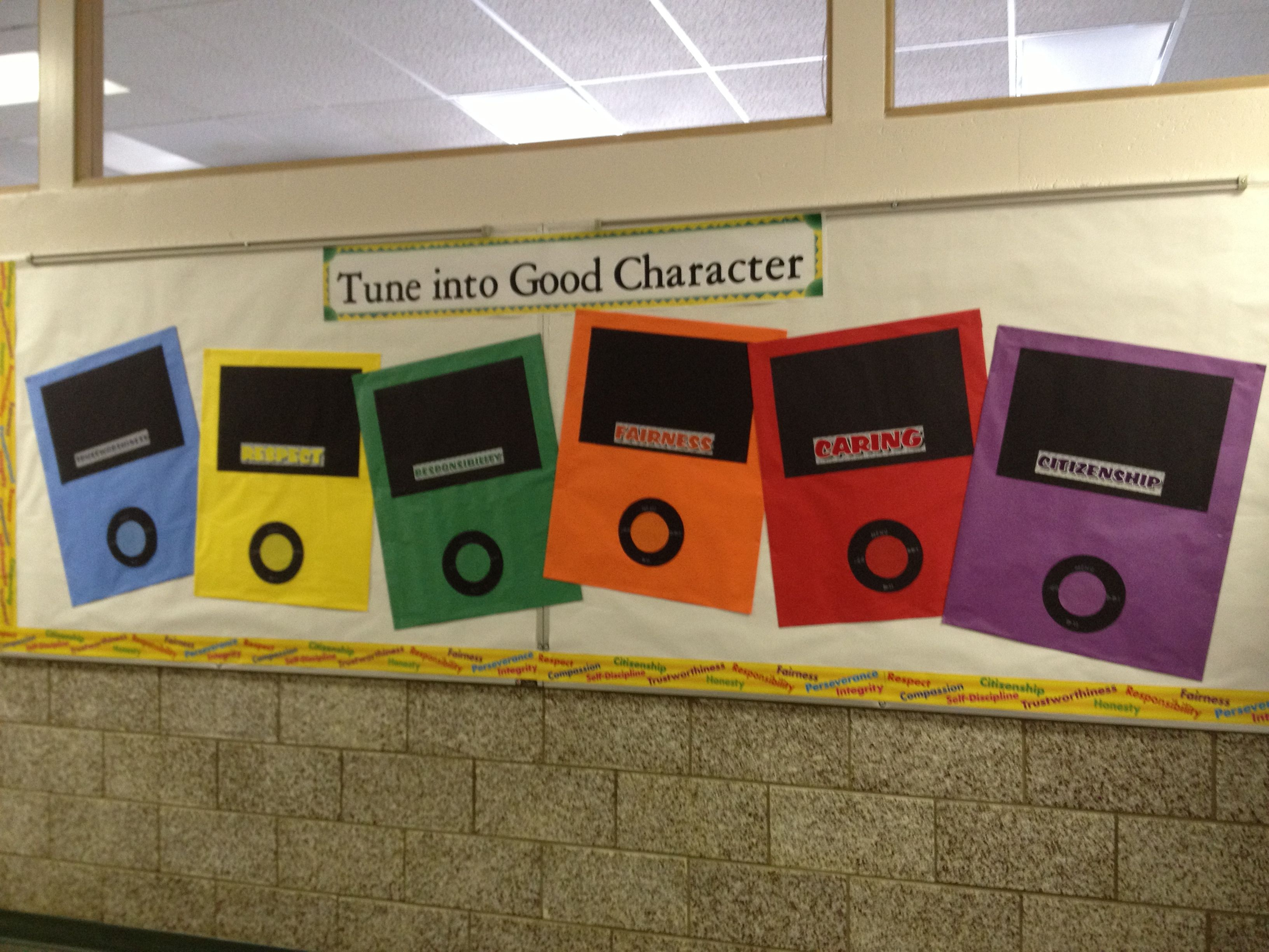 My Six Pillars Bulletin Board For The Hallway