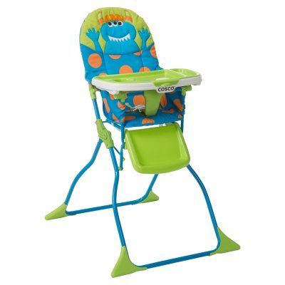Groovy Cosco Monster Syd Simple Fold High Chair Hc237Dhc Durable Andrewgaddart Wooden Chair Designs For Living Room Andrewgaddartcom