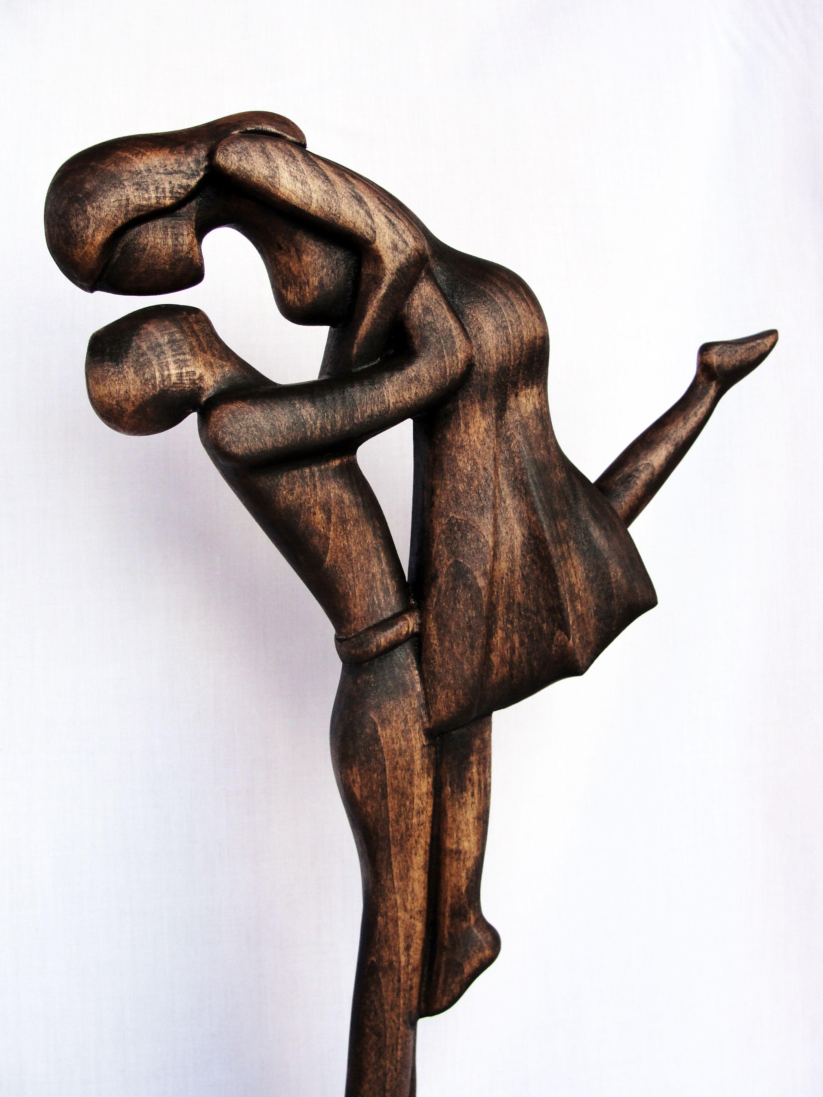 Wood Sculpture In Love Love Woodcarving Wood Wood Art