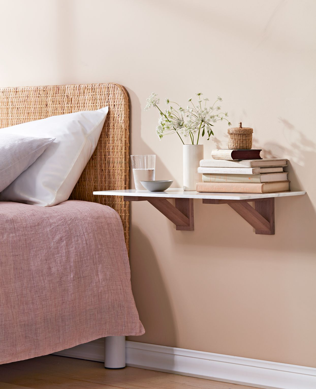 15 Little Things You Can Do To Beautify Your Bedroom In 2020 Floating Shelves Bedroom Floating Bedside Table Bedroom Decor