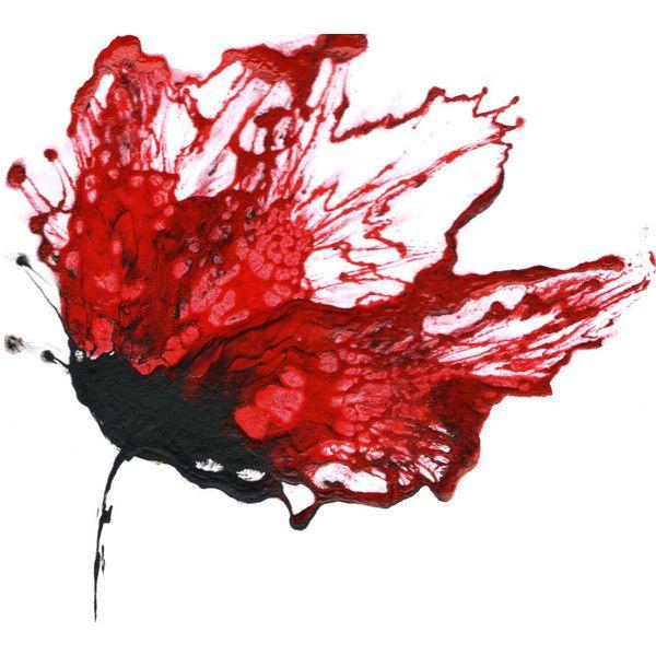 Red Wall Art, Flower Painting, Abstract Floral Art, Original Modern.