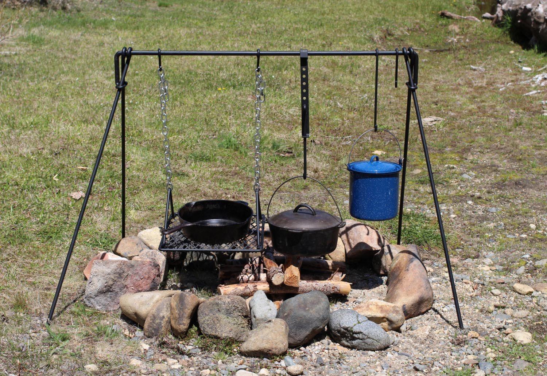 Fire Pit Cooking Tripod Fire Pit Design Ideas Fire Pit Cooking Open Fire Cooking Campfire Grill
