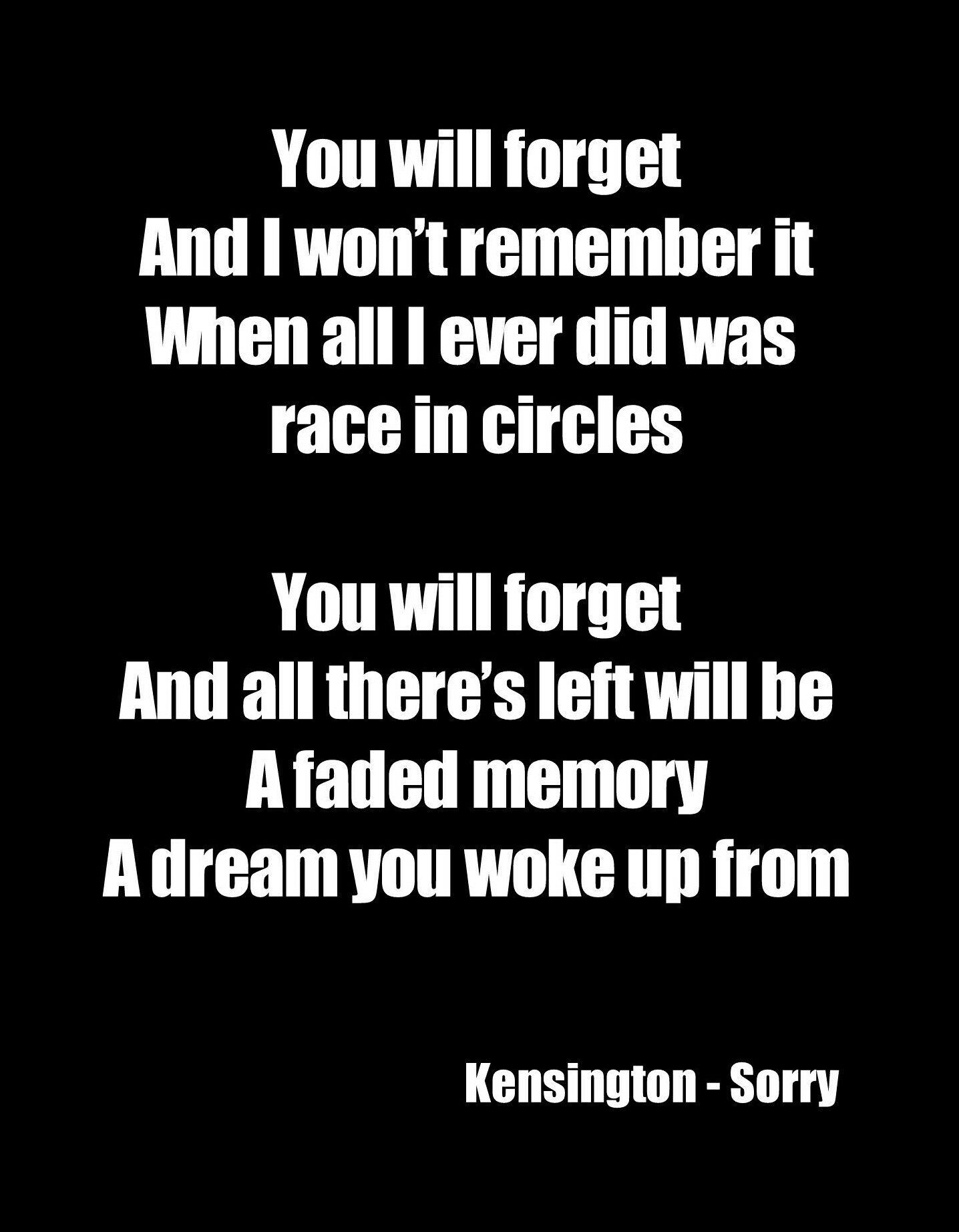 Kensington Sorry Kensington Sorry Sorry Lyrics Cool Lyrics Music Lyrics Beautiful
