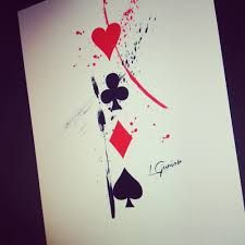 Naipes Cartas Con Imagenes Tatuajes De Poker Tatuajes Cartas