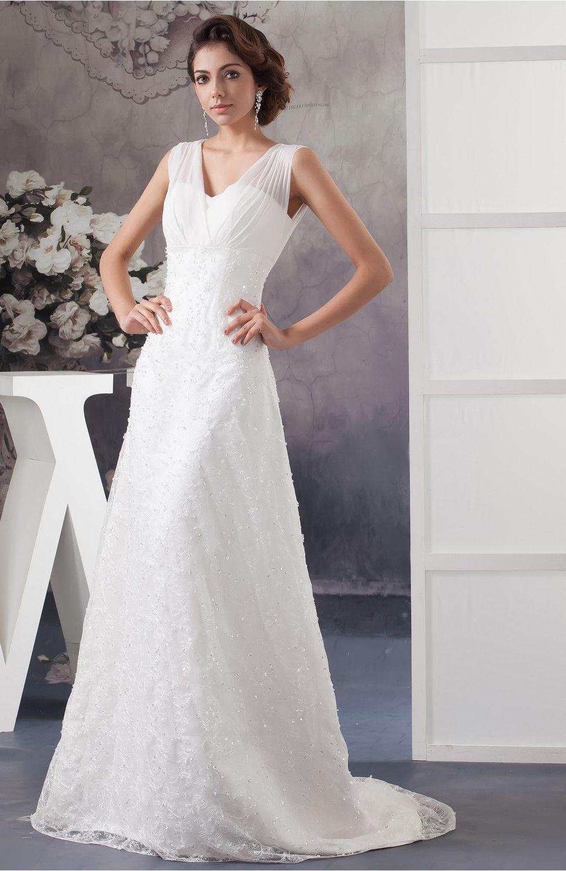 Plus size white wedding dress  Lace Wedding Dress Allure Disney Princess Illusion Plus Size Maxi
