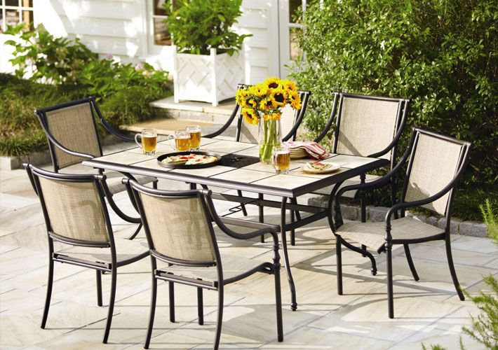 Image result for Organizing Outdoor Furniture Dining Sets