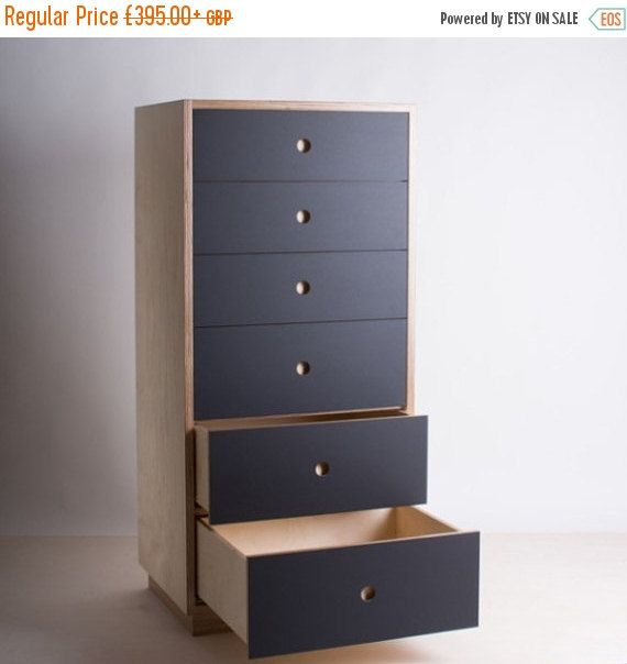 Chest Of Drawers Birch Plywood And Valchromat By Bee9design