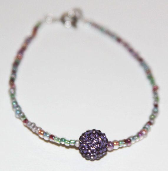 Swarovski Crystal Pave Ball Beaded Bracelet Swarovski Crystals Beaded Bracelets Crystals