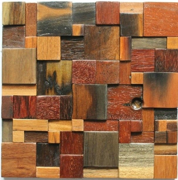 ancient wood mosaic tile backsplash natural wood mosaic pattern interior tiles traditional kitchen tile other metro my building shop - Mosaic Tiles