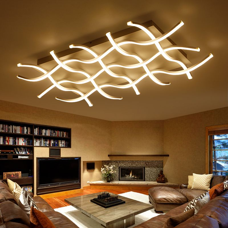 2019 New Modern Led Acrylic Ceiling Lights Fixture Rectangular Living Room Lights Luminarias De Interior Home Decoration Fashionable And Attractive Packages Lights & Lighting Ceiling Lights