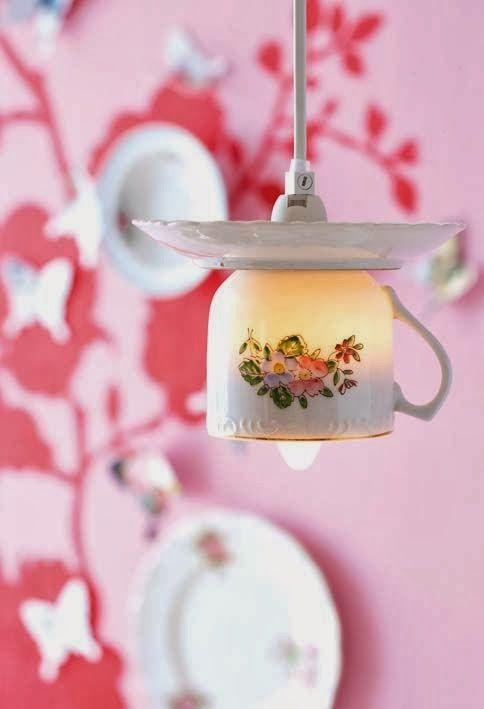 Teacup lights #upcycle #reuse #teacup