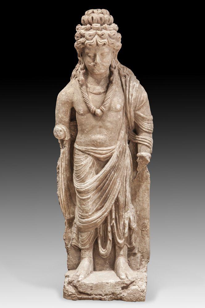 Bodhisattva Gandhara Buddha Art Buddhist Art Ancient India