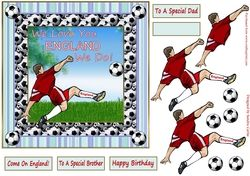 ** MY LATEST DESIGN ** We Love You England Topper on Craftsuprint - View Now!