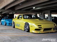 Mazada Miata FC RX7 riding low at Another Level Car SHow