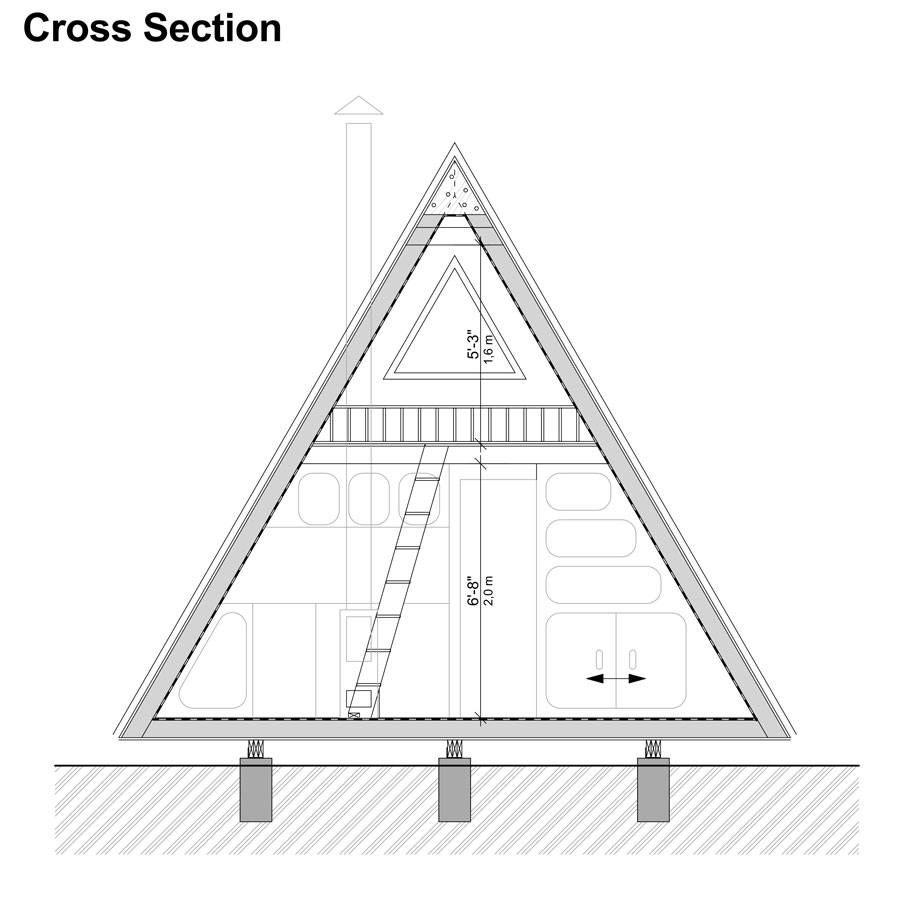 A Frame Tiny House Plans Alexis 2020 Ev Planlari Evler