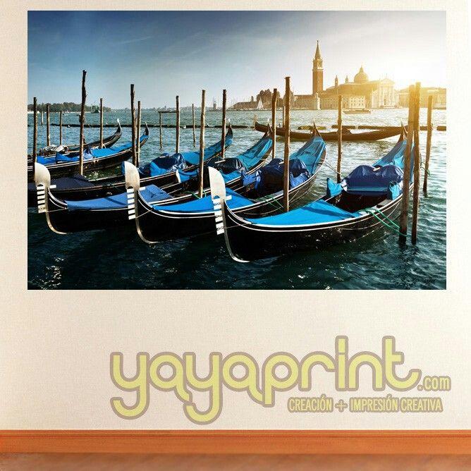 Fotomural venecia gondolas vinilo decorativo pared for Vinilos juveniles nina