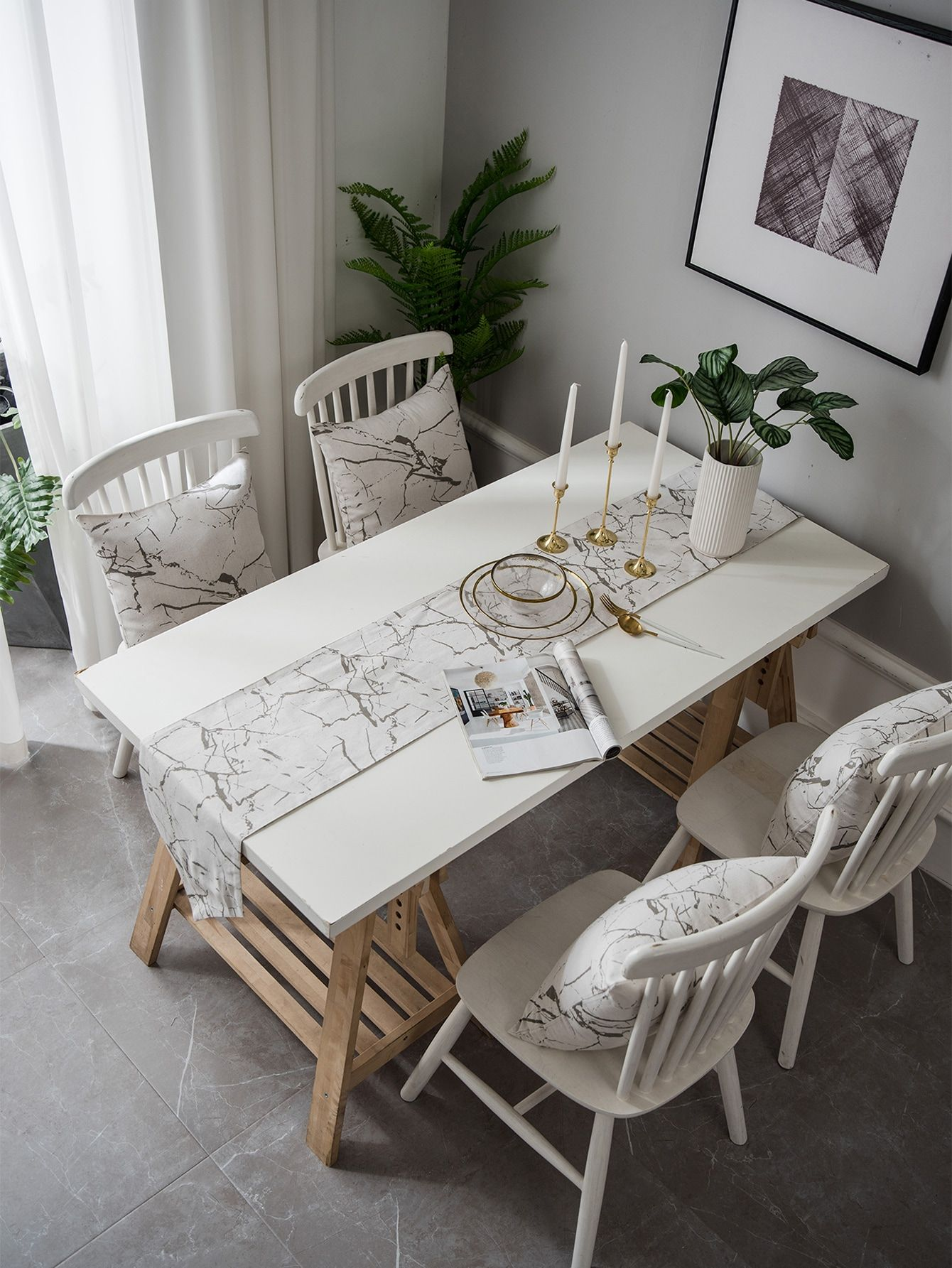 1pc Marble Pattern Table Runner Sponsored Ad Marble Pc Pattern In 2020 Table Cloth Decorations White Table Cloth Table