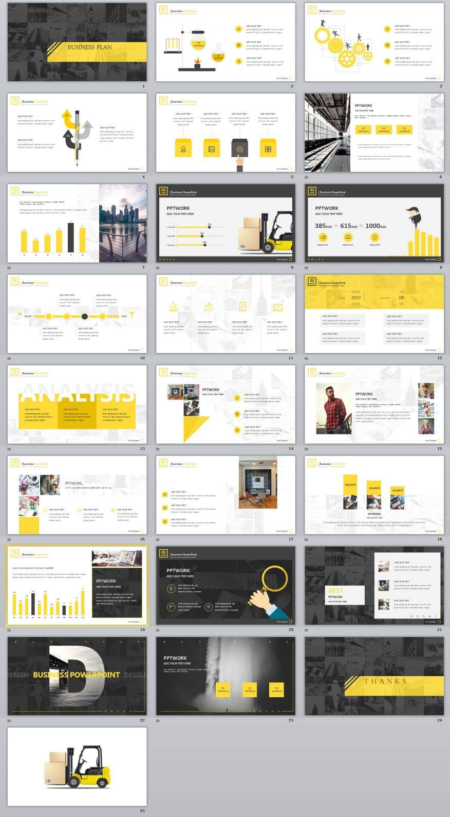 Yellow Business Plan Report PowerPoint Templates Business - Keynote business plan template