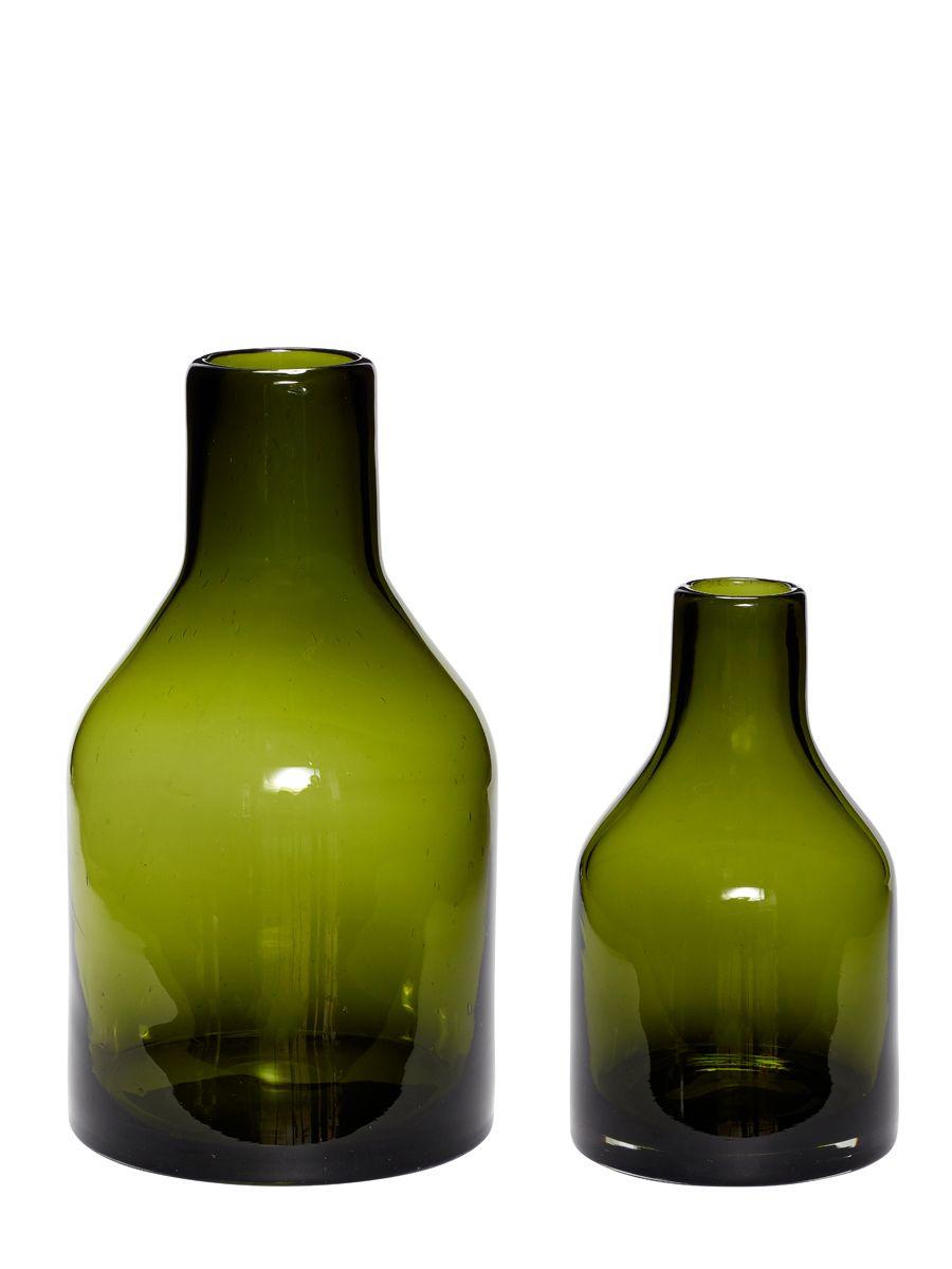 Hubsch Bodenvasen Glas Dunkelgrun