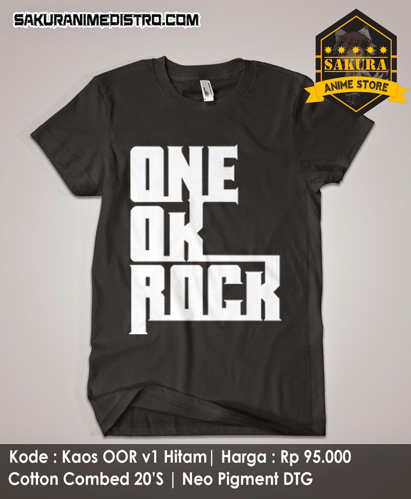 Kaos Anime One Ok Rock V1 Hitam One ok rock, Anime one