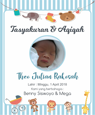 Kartu Tasyakuran Aqiqah Kartu Bayi Kartu Kelahiran Anak
