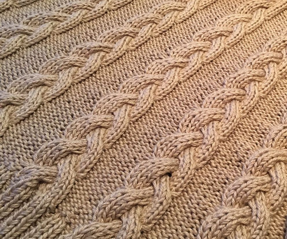 Cable Afghan Knitting Patterns | Manta