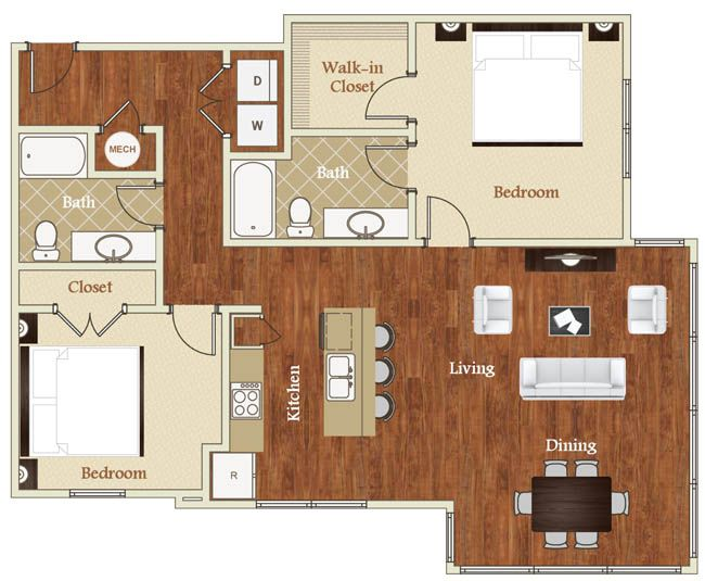 Studio 1 2 bedroom apartments in raleigh nc st mary 39 s square small spaces pinterest for Two bedroom apartments in raleigh nc
