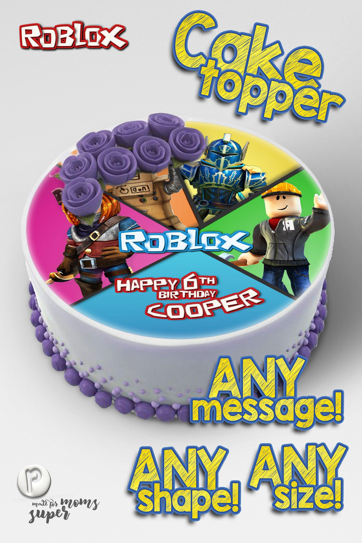 Roblox Edible Cake Topper  Roblox cake, Edible photo cake topper