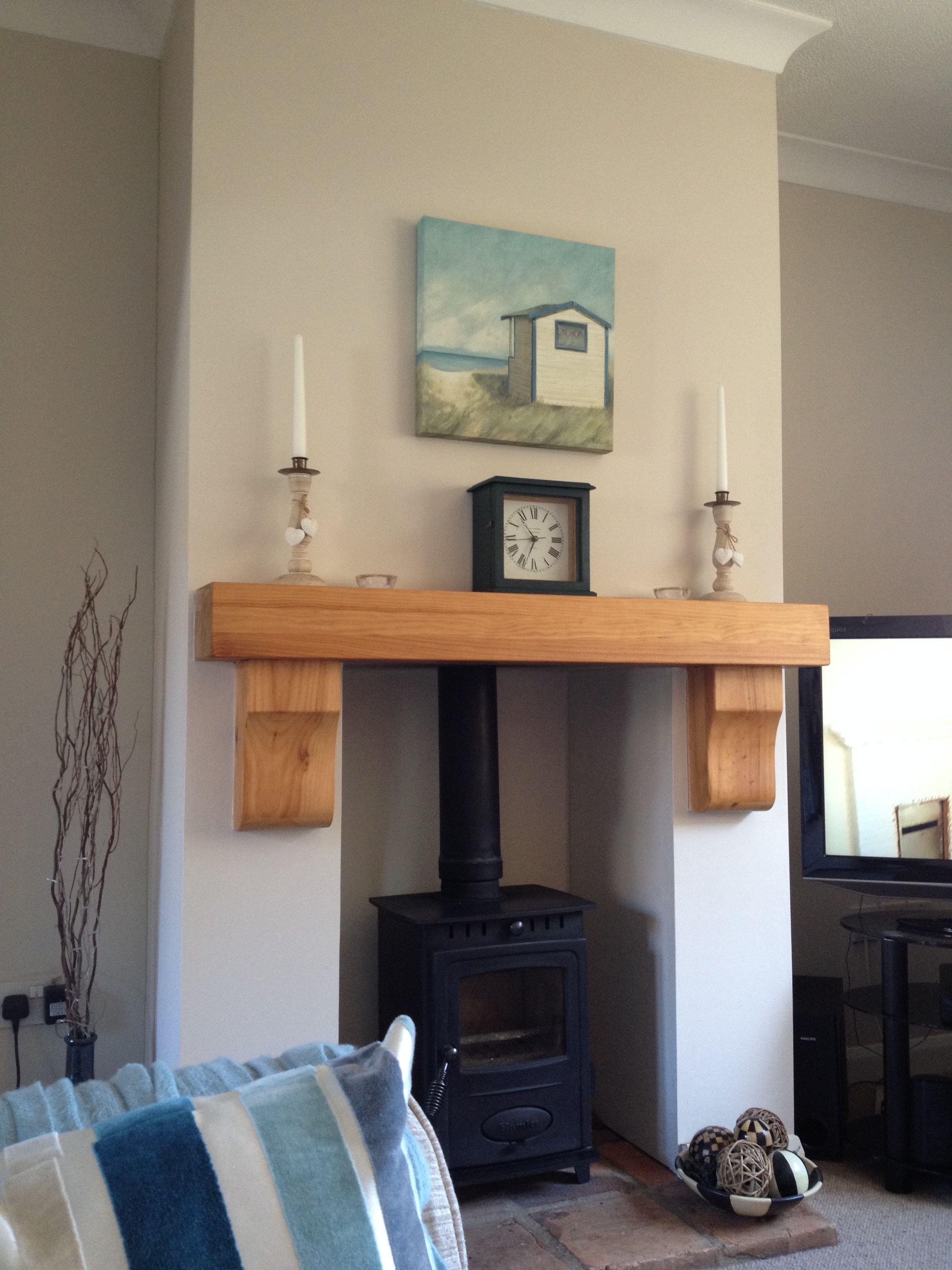 Woodburner installed on a flat internal wall that had no chimney ...