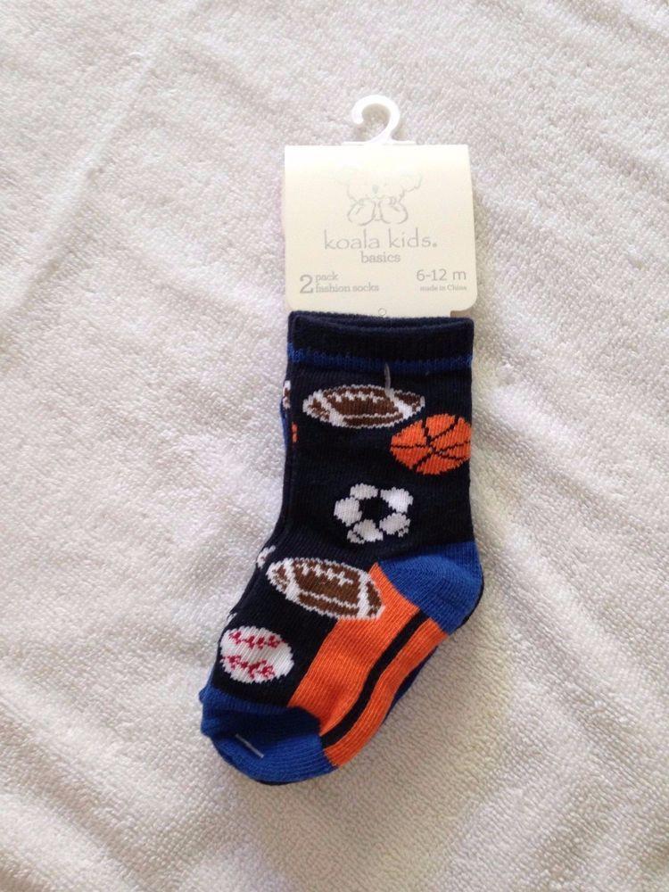 01b69d94807 NWT Koala kids baby boy socks 6-12 months 2 pack fashion socks sports   KoalaKids