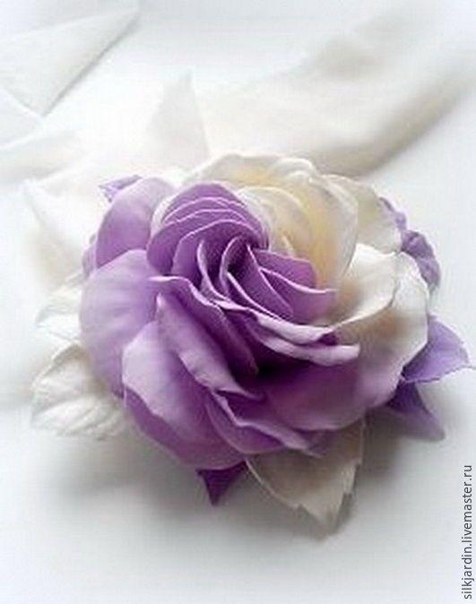 Роза из фоамирана инь-янь мастер класс