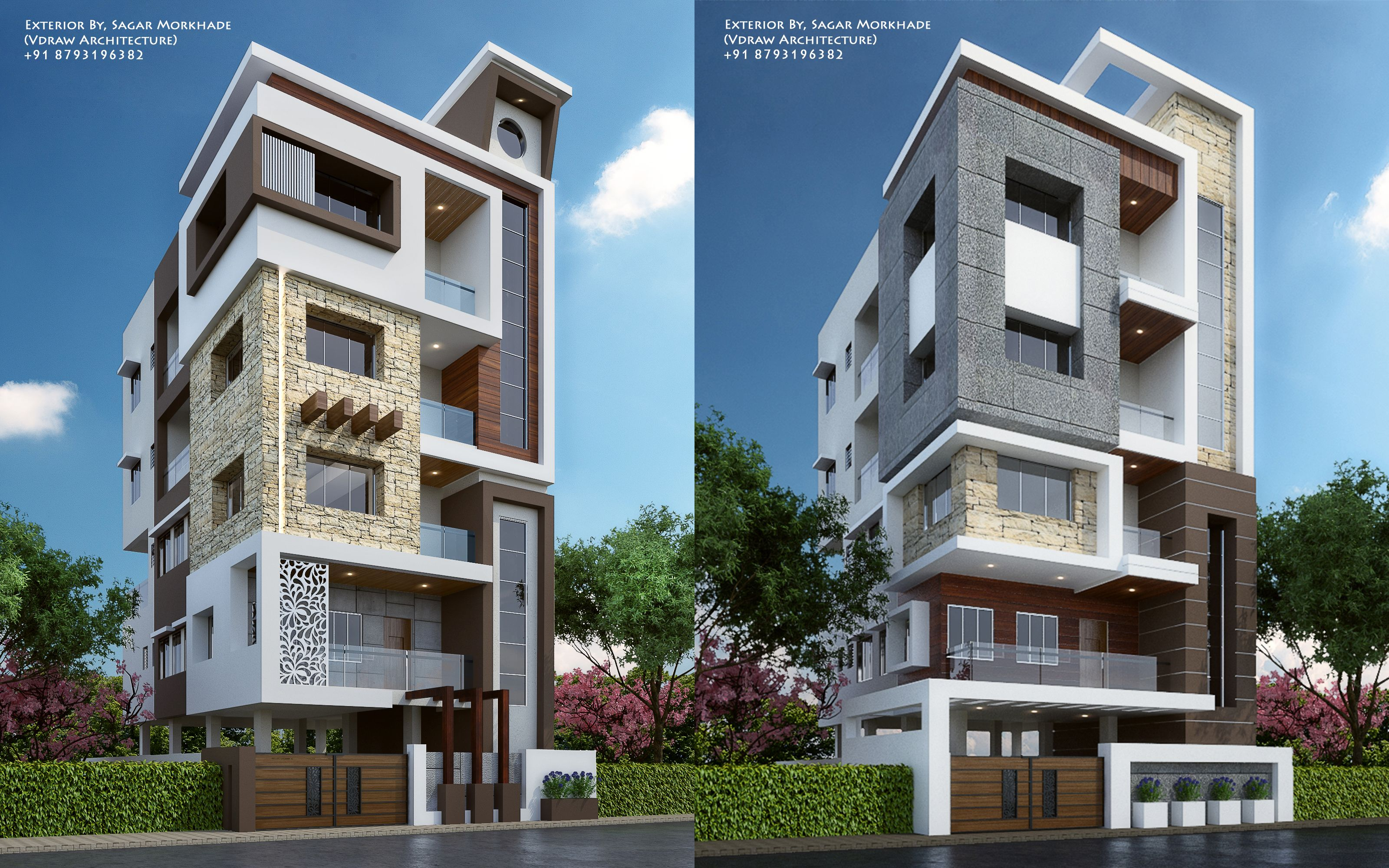 Modern Residential Flat Scheme Exterior By Ar Sagar