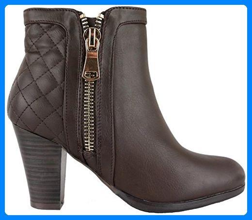 Mit Moderne Reißverschluss Stiefel Damen U Stiefeletten ZTOkXiPu