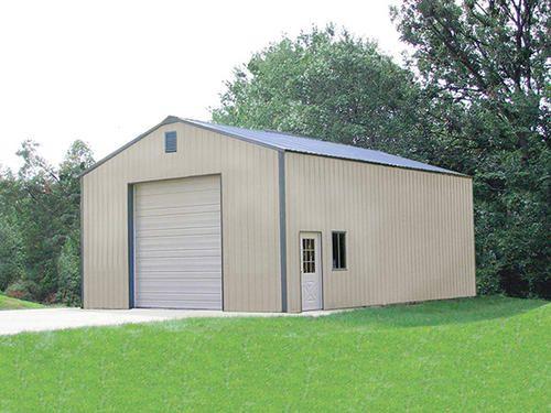 30 X 40 X 16 Garage At Menards Metal Shop Building Metal Building Homes Metal Buildings