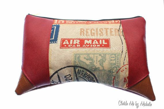 Air Mail Clutch by ClutchMi on Etsy